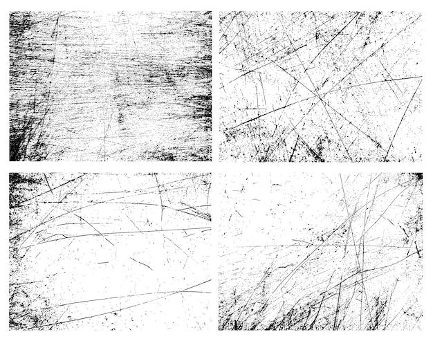 Grunge texturen collectie Gratis Vector