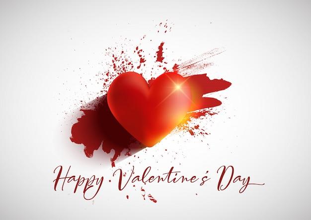 Grunge valentijnsdag achtergrond Gratis Vector