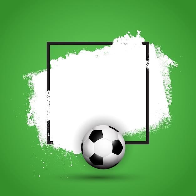 Grunge voetbal / voetbal achtergrond Gratis Vector