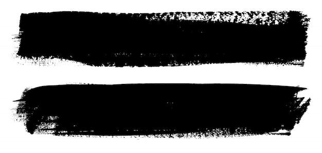 Grunge zwarte verf lijnen Premium Vector