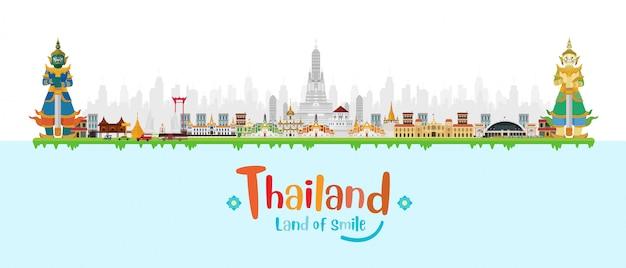 Guardian giant in thailand en monumenten, Premium Vector