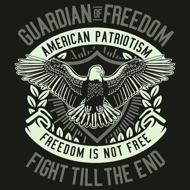 Guardian of freedom Premium Vector