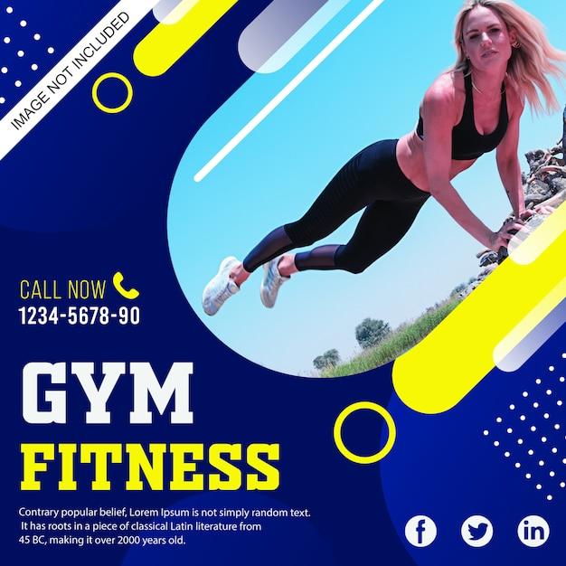 Gym flyer banner Premium Vector