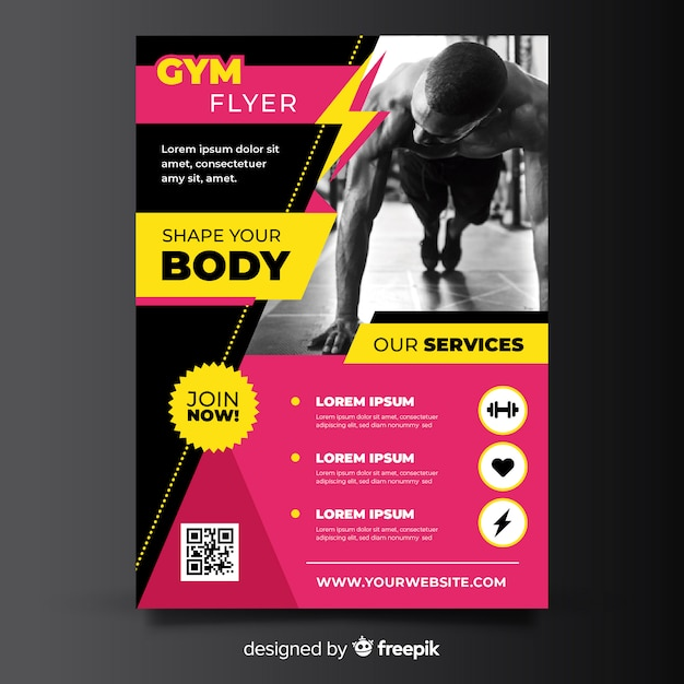 Gym-flyer Premium Vector