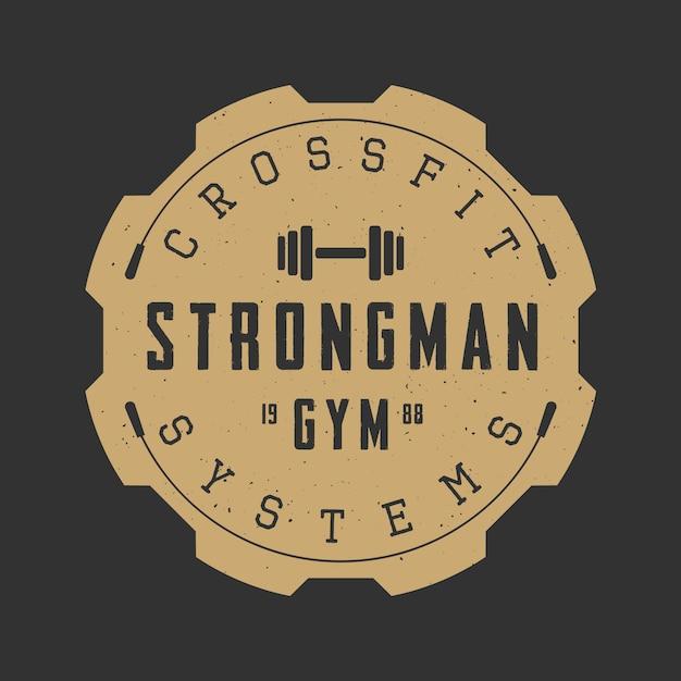 Gym-logo, embleem Premium Vector