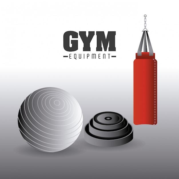 Gym-ontwerp. Premium Vector