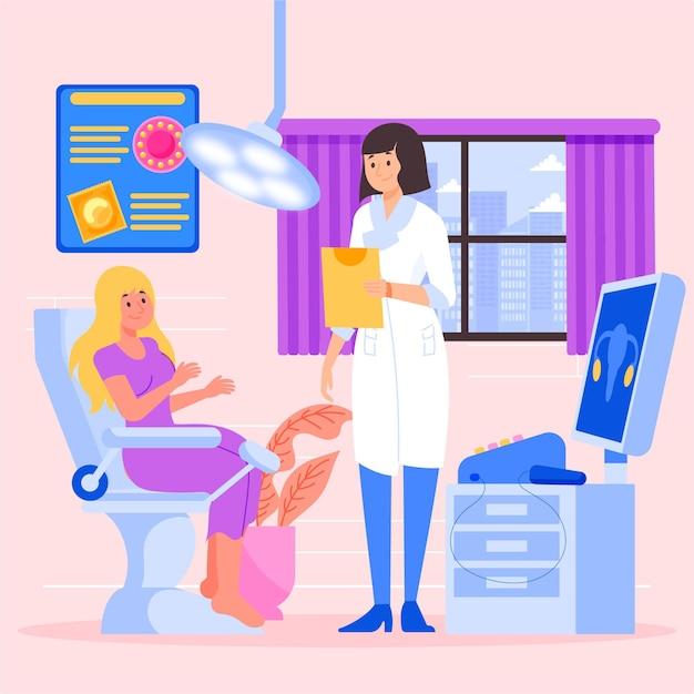 Gynaecologie overleg illustratie Gratis Vector
