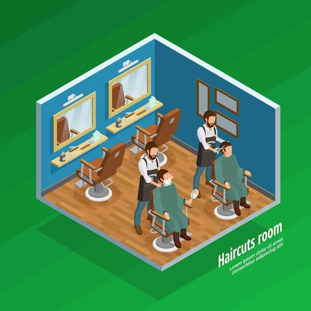 Haircut room concept Gratis Vector