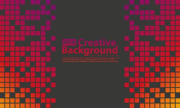 Halftone abstracte verticaal met gele, donkere paarse gradatie en zwarte kleurenachtergrond Premium Vector