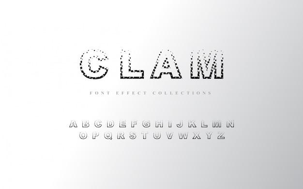 Halftone alfabet lettertype sjabloon Premium Vector