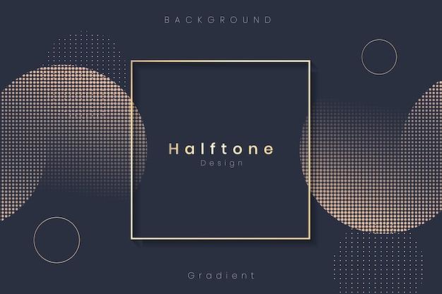 Halftone cirkel achtergrondkader Gratis Vector