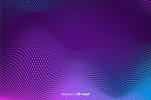 Halftone effect achtergrond gradient achtergrond Gratis Vector