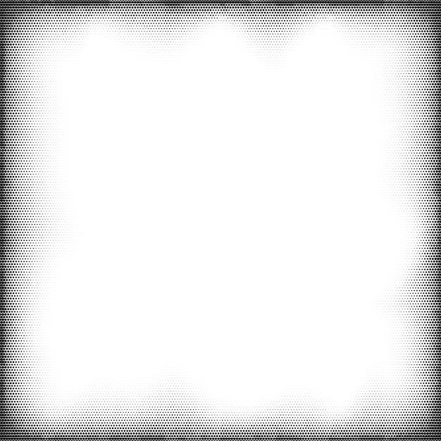 Halftone grunge pop-art frame. komische stijl achtergrond. Premium Vector