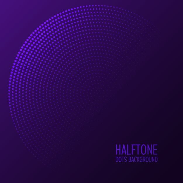 Halftone puntjes achtergrond Gratis Vector