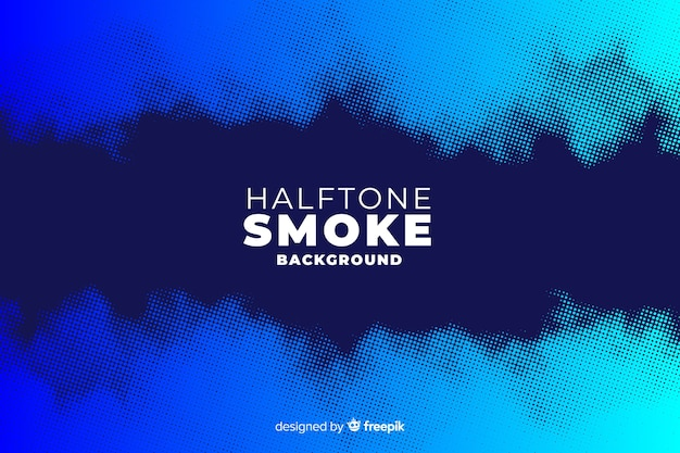 Halftone rook achtergrond Gratis Vector