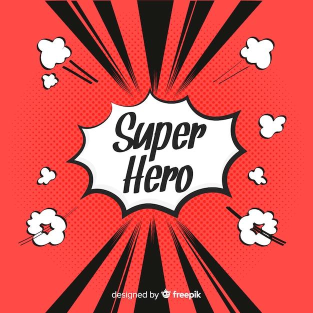 Halftone superheld achtergrond Gratis Vector