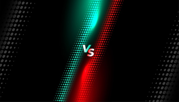 Halftoonstijl versus schermachtergrond Gratis Vector