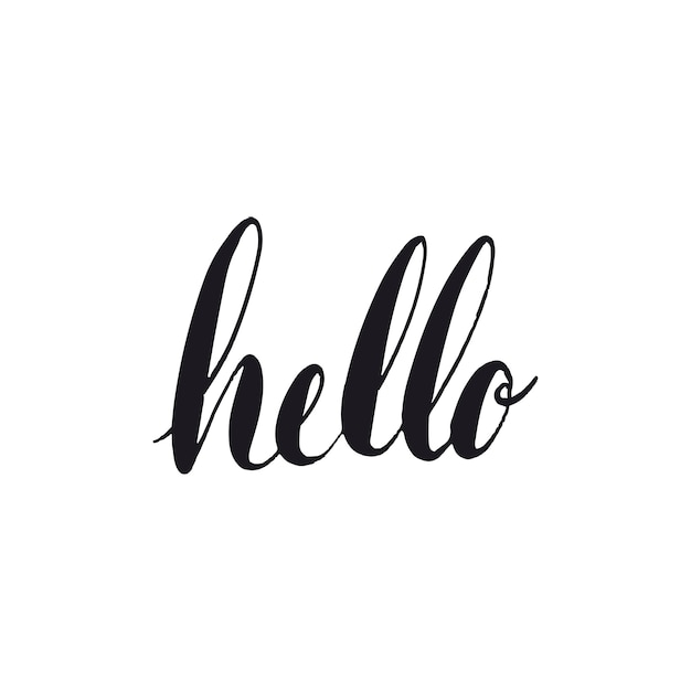 Hallo groet typografie stijl vector Gratis Vector