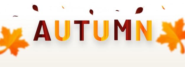 Hallo herfst achtergrond Premium Vector