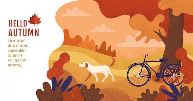 Hallo herfst, lay-out, thanksgiving Premium Vector