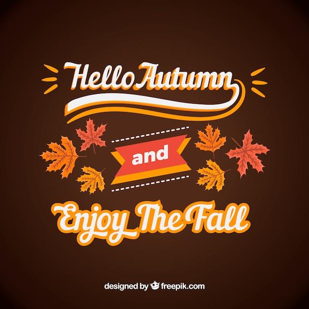 Citaten Herfst Zombie : Hallo herfst lettering vector gratis download