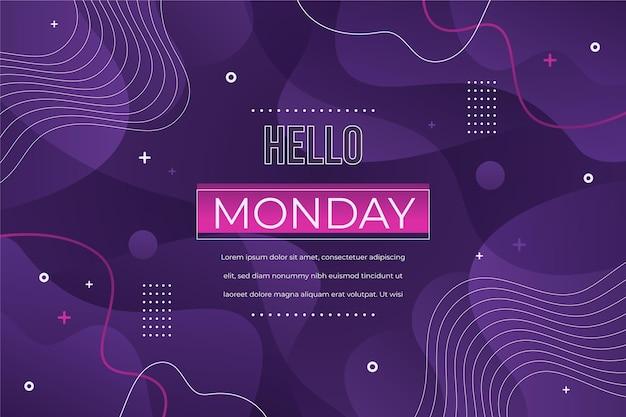 Hallo maandag sjabloonontwerp Premium Vector
