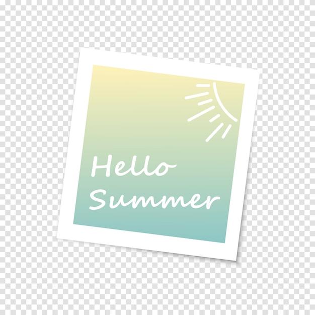 Hallo zomer fotolijst Premium Vector
