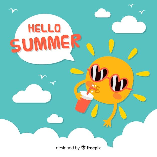Hallo zomer Gratis Vector