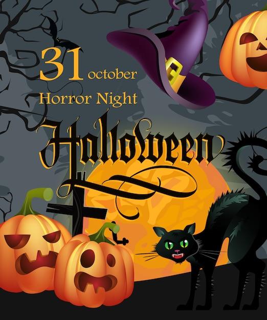 Halloween 30 Oktober.Halloween 30 Oktober Eerste Letters Met Pompoenen En Kat