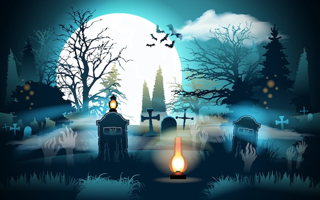 Halloween achtergrond. Premium Vector