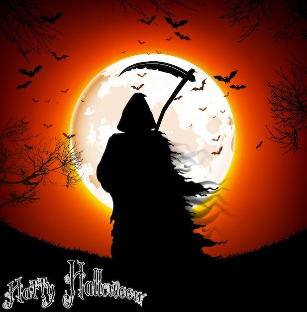 Halloween achtergrond Premium Vector
