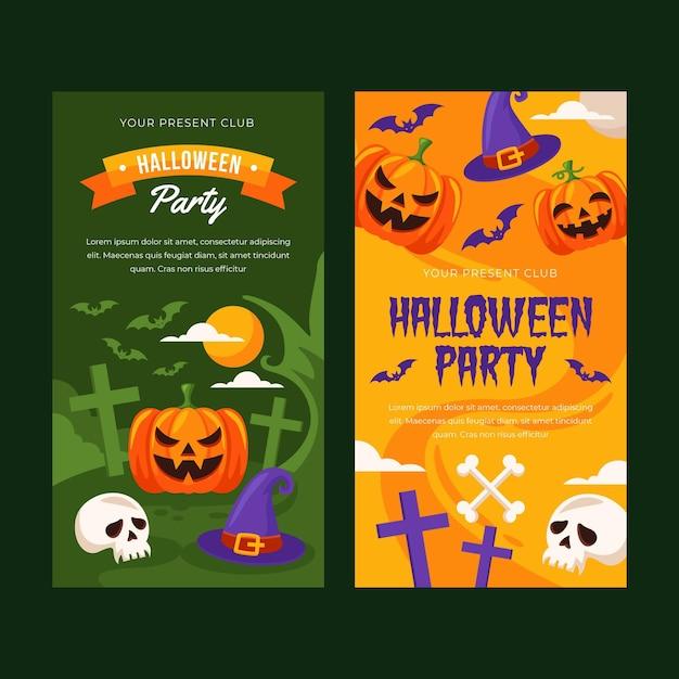 Halloween banners Gratis Vector