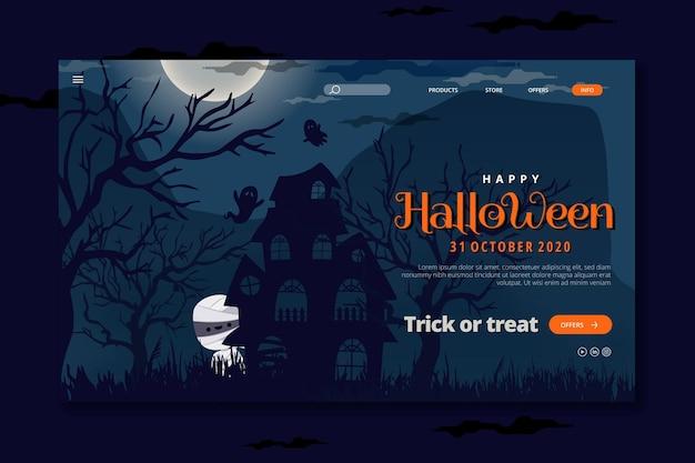 Halloween-bestemmingspagina Gratis Vector