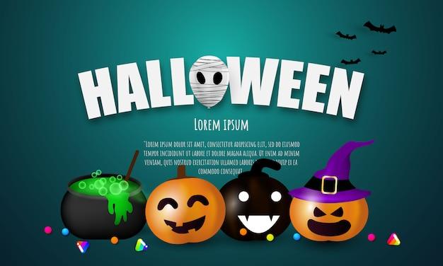 Halloween carnaval feest, Premium Vector