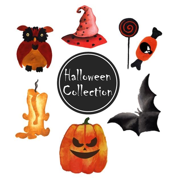 Halloween elementen collectie Premium Vector