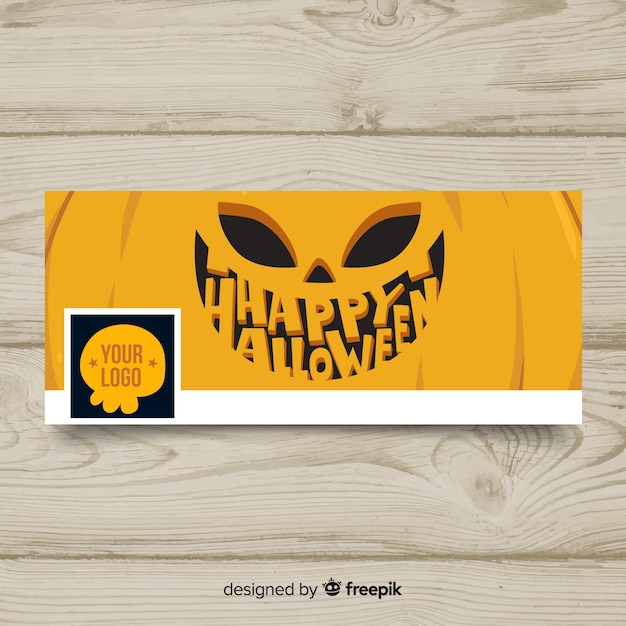 Halloween facebook banner Gratis Vector