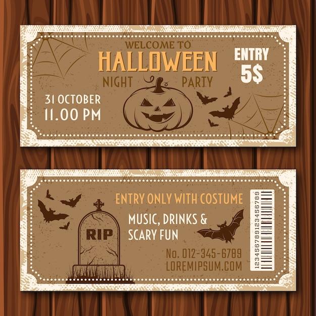 Halloween-feestkaartjes Gratis Vector