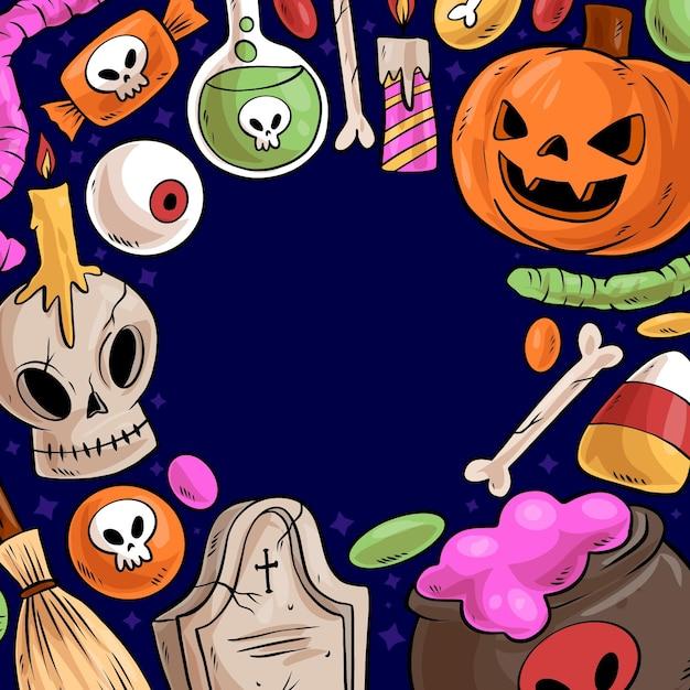 Halloween frame Gratis Vector