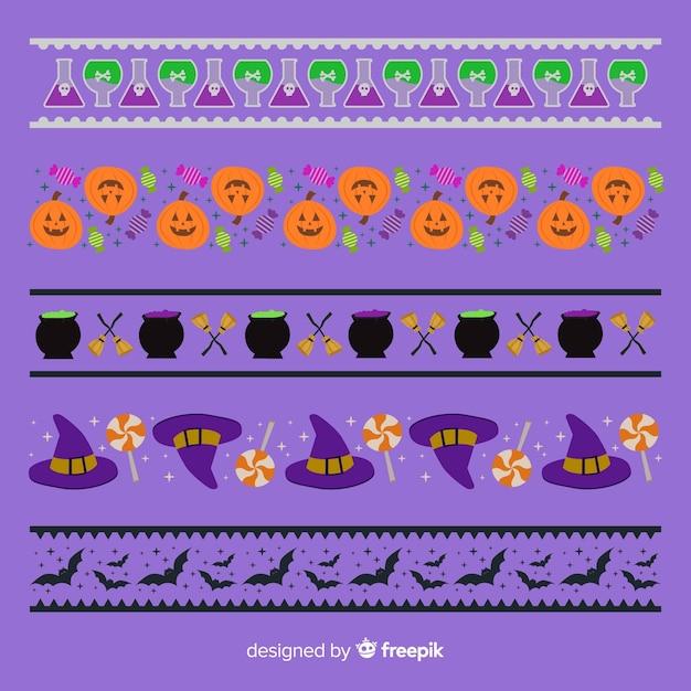 Halloween grensverzameling Gratis Vector