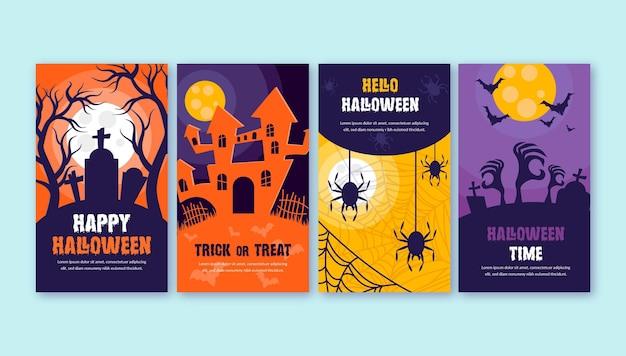 Halloween instagram verhalencollectie Gratis Vector