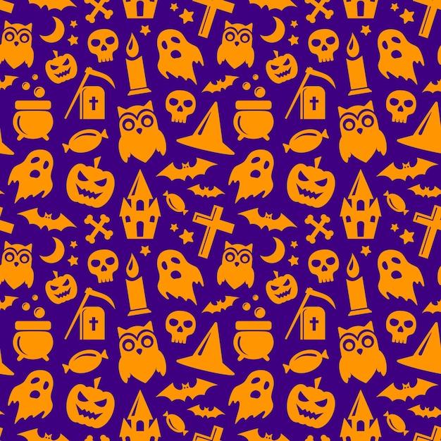 Halloween naadloos patroon. vector achtergrond Premium Vector