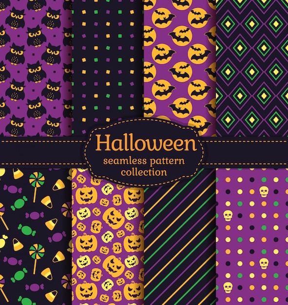 Halloween naadloze patronen Premium Vector