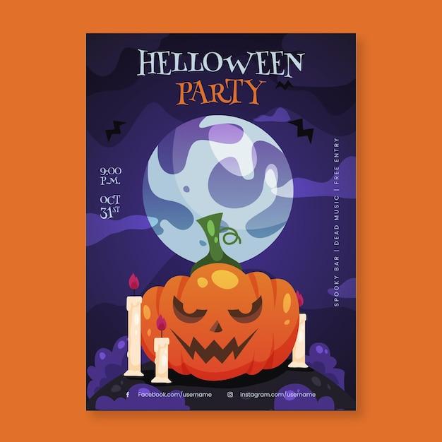 Halloween party poster Gratis Vector