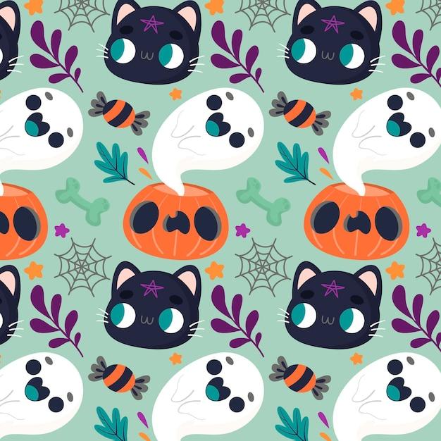 Halloween patroon concept Gratis Vector