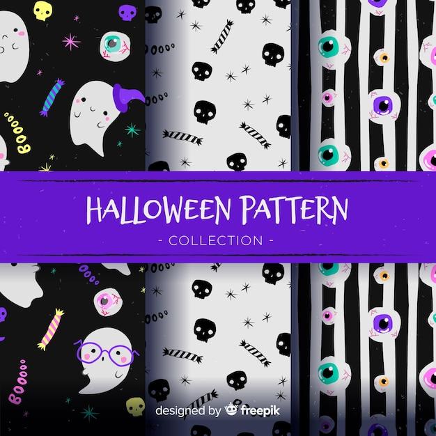 Halloween-patroonontwerp als achtergrond Gratis Vector