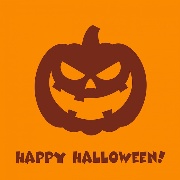 Halloween pompoen cartoon kwaad gezicht karakter Premium Vector