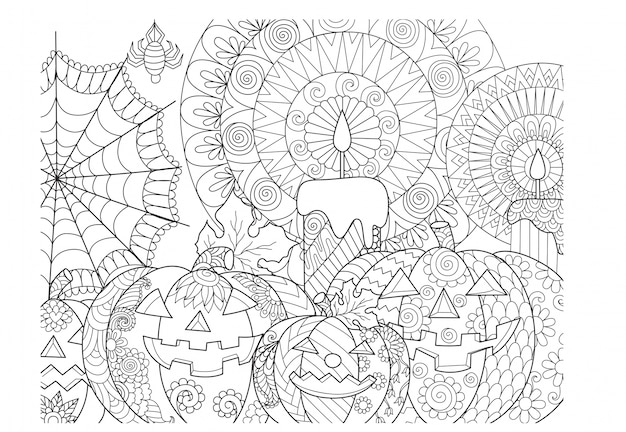 Halloween Kleuren.Halloween Pompoen Kleuren Vector Premium Download