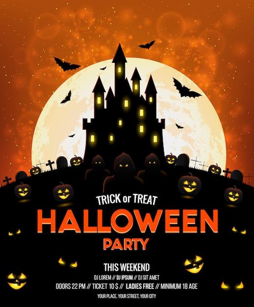 Halloween-poster Premium Vector