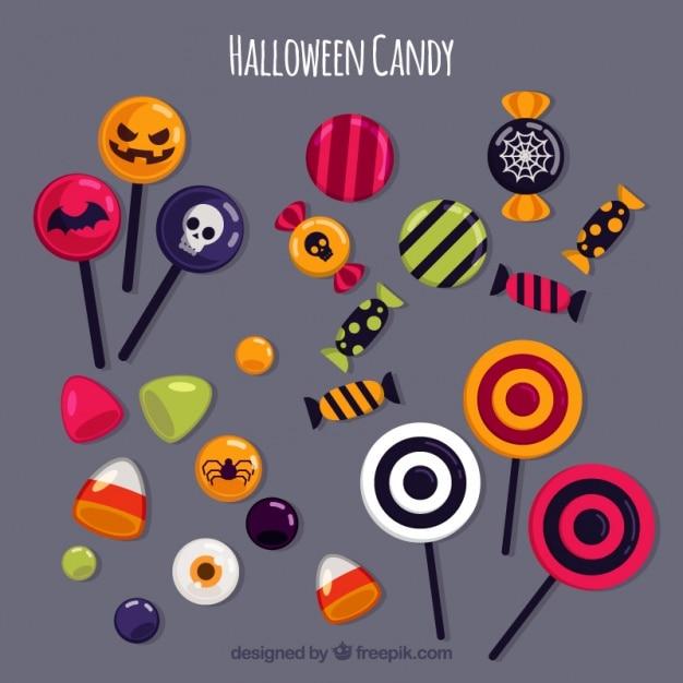 Halloween Snoep.Halloween Snoep Varieteit Vector Gratis Download