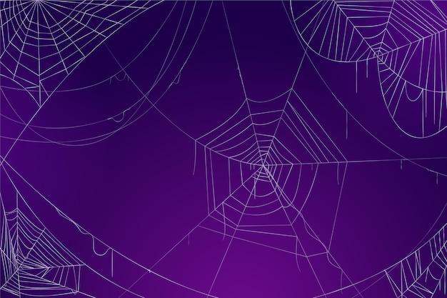 Halloween spinnenweb wallpaper concept Gratis Vector